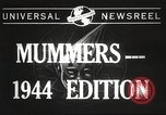 Image of Mummers Parade Philadelphia Pennsylvania USA, 1944, second 3 stock footage video 65675061497
