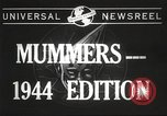 Image of Mummers Parade Philadelphia Pennsylvania USA, 1944, second 4 stock footage video 65675061497