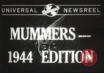 Image of Mummers Parade Philadelphia Pennsylvania USA, 1944, second 5 stock footage video 65675061497