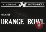 Image of college football game Miami Florida USA, 1944, second 7 stock footage video 65675061498