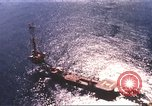 Image of offshore oil rig Atlantic Ocean, 1965, second 4 stock footage video 65675061602