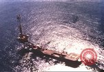 Image of offshore oil rig Atlantic Ocean, 1965, second 5 stock footage video 65675061602