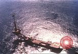 Image of offshore oil rig Atlantic Ocean, 1965, second 6 stock footage video 65675061602