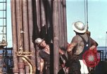 Image of offshore oil rig Atlantic Ocean, 1965, second 2 stock footage video 65675061603