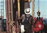 Image of offshore oil rig Atlantic Ocean, 1965, second 10 stock footage video 65675061603
