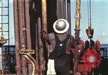 Image of offshore oil rig Atlantic Ocean, 1965, second 12 stock footage video 65675061603