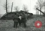 Image of captured British Mark IV heavy tank Cambrai France, 1917, second 12 stock footage video 65675061615