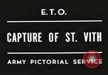 Image of 7th Armored Division Saint Vith Belgium, 1945, second 3 stock footage video 65675061636