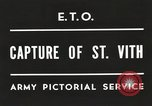 Image of 7th Armored Division Saint Vith Belgium, 1945, second 4 stock footage video 65675061636