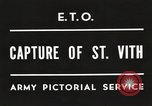 Image of 7th Armored Division Saint Vith Belgium, 1945, second 5 stock footage video 65675061636