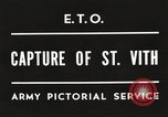 Image of 7th Armored Division Saint Vith Belgium, 1945, second 6 stock footage video 65675061636