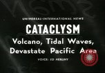 Image of damage due to cataclysm Pacific Ocean, 1960, second 1 stock footage video 65675061716