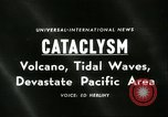 Image of damage due to cataclysm Pacific Ocean, 1960, second 2 stock footage video 65675061716