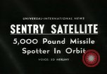 Image of missile spotting satellite Cape Canaveral Florida USA, 1960, second 3 stock footage video 65675061717