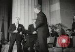 Image of President John F Kennedy awards handicapped man Massachusetts United States USA, 1963, second 10 stock footage video 65675061766