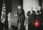 Image of President John F Kennedy awards handicapped man Massachusetts United States USA, 1963, second 12 stock footage video 65675061766