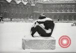 Image of snowfall Paris France, 1966, second 10 stock footage video 65675061791