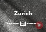 Image of huge clock Zurich Switzerland, 1967, second 1 stock footage video 65675061796