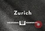 Image of huge clock Zurich Switzerland, 1967, second 3 stock footage video 65675061796