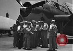 Image of Douglas SBD Dauntless aircraft start and taxi Pearl Harbor Hawaii USA, 1942, second 5 stock footage video 65675061841