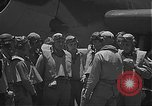 Image of Douglas SBD Dauntless aircraft start and taxi Pearl Harbor Hawaii USA, 1942, second 10 stock footage video 65675061841