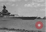 Image of USS Colorado (BB-45) maneuvering to Berth F-12A Pearl Harbor Hawaii USA, 1942, second 1 stock footage video 65675061843