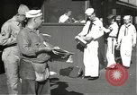 Image of United States sailors learn about end of World War II Hawaii USA, 1945, second 2 stock footage video 65675061871