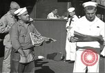 Image of United States sailors learn about end of World War II Hawaii USA, 1945, second 10 stock footage video 65675061871
