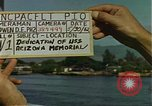 Image of USS Arizona Memorial Honolulu Hawaii USA, 1962, second 4 stock footage video 65675061878