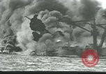 Image of wrecked battleships Pearl Harbor Hawaii USA, 1941, second 2 stock footage video 65675061904