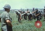 Image of Memorial ceremony for fallen of 199th Light Infantry Brigade South Vietnam, 1968, second 11 stock footage video 65675062054
