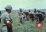 Image of Memorial ceremony for fallen of 199th Light Infantry Brigade South Vietnam, 1968, second 12 stock footage video 65675062054