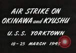 Image of air attack on Okinawa Okinawa Ryukyu Islands, 1945, second 11 stock footage video 65675062190