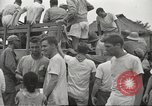 Image of US prisoners of war liberated from Japanese prison in World War II Cabanatuan Philippines, 1945, second 6 stock footage video 65675062318