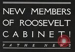 Image of Roosevelt's cabinet United States USA, 1933, second 4 stock footage video 65675062429