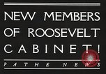 Image of Roosevelt's cabinet United States USA, 1933, second 5 stock footage video 65675062429