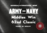 Image of Army versus Navy football Philadelphia Pennsylvania USA, 1961, second 2 stock footage video 65675062497