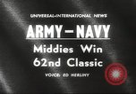 Image of Army versus Navy football Philadelphia Pennsylvania USA, 1961, second 4 stock footage video 65675062497