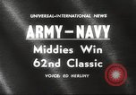 Image of Army versus Navy football Philadelphia Pennsylvania USA, 1961, second 5 stock footage video 65675062497
