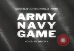 Image of Army Navy football game with President John Kennedy Philadelphia Pennsylvania USA, 1962, second 1 stock footage video 65675062502