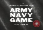 Image of Army Navy football game with President John Kennedy Philadelphia Pennsylvania USA, 1962, second 2 stock footage video 65675062502
