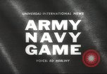 Image of Army Navy football game with President John Kennedy Philadelphia Pennsylvania USA, 1962, second 5 stock footage video 65675062502