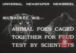 Image of animal foes Milwaukee Wisconsin USA, 1932, second 4 stock footage video 65675062516