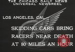 Image of car race Los Angeles California USA, 1932, second 2 stock footage video 65675062520