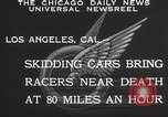 Image of car race Los Angeles California USA, 1932, second 7 stock footage video 65675062520