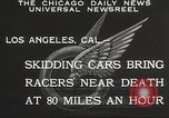 Image of car race Los Angeles California USA, 1932, second 8 stock footage video 65675062520