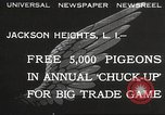 Image of released pigeons Jackson Heights Long Island New York USA, 1932, second 1 stock footage video 65675062521