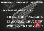 Image of released pigeons Jackson Heights Long Island New York USA, 1932, second 2 stock footage video 65675062521