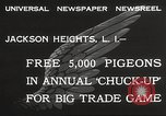 Image of released pigeons Jackson Heights Long Island New York USA, 1932, second 6 stock footage video 65675062521