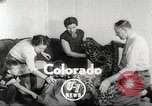 Image of massive leopard fur skin rug from Korea Pueblo Colorado USA, 1951, second 3 stock footage video 65675062527